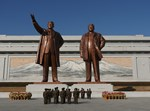 פסל של קים ג'ונג און בצפון קוריאה