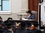 הרבי מסאטמר בשיעור בישיבה הגדולה