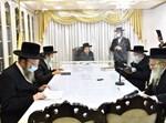 רבני ברסלב בתפילה לקיום הקיבוץ באומן
