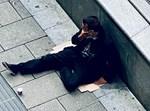 מחוסר עבודה ברחוב. אילוסטרציה