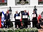 טקס חתימת הסכם השלום בוושינגטון.