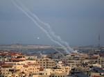 רקטות שנורו לעבר ישראל