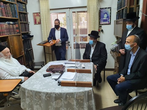 """ביקור מנכ""""ל לאומית החדש אצל הרבנים"""