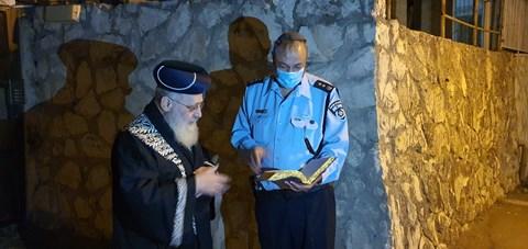 רב המשטרה בביקור אצל גדולי ישראל