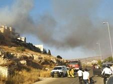 שריפה בשטח פתוח בביתר עילית