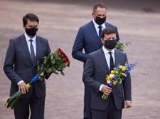 נשיא אוקראינה ולדימיר זלנסקי בטקס בבאבי יאר