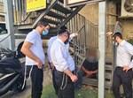 מתנדבי 'השומרים' עם הפורץ