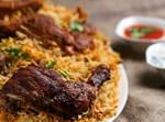 אורז עם גזר ועוף שחום