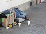 קבצן ברחוב