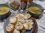 מרק בצל וקרוסטיני