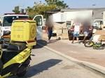 זירת התאונה באשקלון