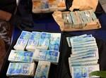 הכסף שנתפס בביתו של החשוד