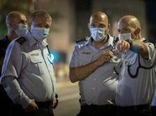 """מ""""מ המפכ""""ל מוטי כהן בהפגנה בבלפור"""
