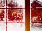 לבבות על חלון