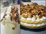 עוגת שכבות או רולדה עם שקדים מקורמלים