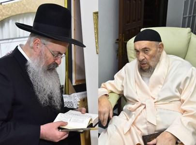 """האדמו""""רים רבי ברוך ורבי משה אבוחצירא בהדלקה"""