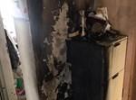 הקירות מפויחים לאחר השריפה