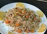 אורז בסמטי עם קובייות בטטה