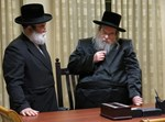 הרב בריסק עם הרבי מבעלזא