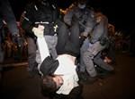מעצר מפגין חרדי בהפגנה