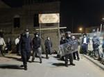 כוחות משטרה מחוץ לחתונה בביתר עילית