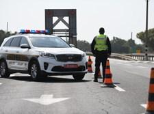משטרת התנועה אוכפת את הסגר