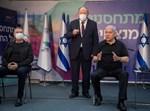 נתניהו ואדלשטיין לפני קבלת המנה השנייה