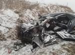 הרכב בתאונה מרוסק