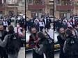 שוטר מכה בזעם מפגין חרדי