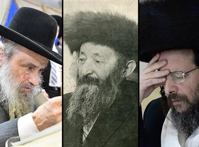 """הרבי זצ""""ל לימינו ר""""י זוועהיל ולשמאלו הרב קליינרמן"""