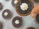 טארטלטים במילוי סופלה שוקולד
