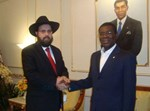 הרב שלמה בן טולילא עם נשיא גינאה המשוונית