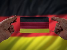 מסכה בצבעי הדגל הגרמני