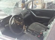 """רכב התקשורת שהותקף במא""""ש"""