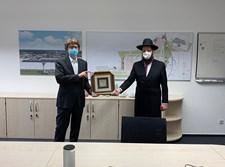 """הרב טייכטל עם ראש רשות שד""""ת"""