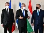 נתניהו עם מנהיגי צ'כיה והונגריה