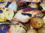 עוף בתנור עם נענע וחצאי לימון