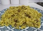 בחש – אורז עם בשר וירק קצוץ