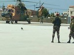 מסוק ירדני שהגיע לאסוף את אבו מאזן