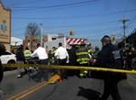 זירת התאונה בברוקלין