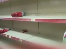 מדפים ריקים בחנויות בלבנון