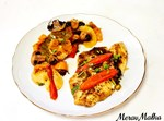פילה דג אמנון עם ירקות בתנור
