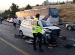 זירת התאונה בכביש 375