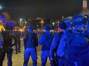 המשטרה בהתפרעויות בחיפה
