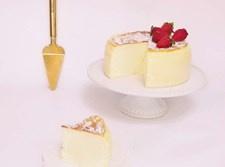 עוגת גבינה אפויה וגבוהה