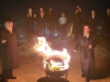 """הדלקה בשמואל הנביא ע""""י הרבי מאונגוואר"""