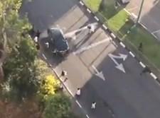 נהג הרכב מנסה לדרוס את התושבים
