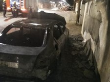 רכבו של ראש הישיבה שנשרף