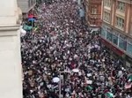 ההפגנה הפרו-פלסטינית בלונדון