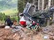 זירת אסון הרכבל באיטליה